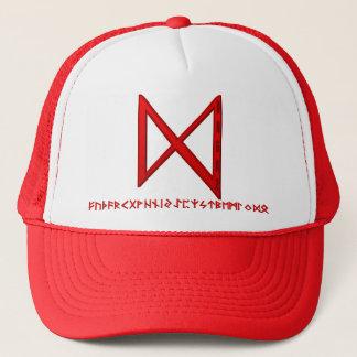 Dagaz Rune red Trucker Hat