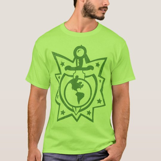 Dagger and Sheild Earth T-Shirt