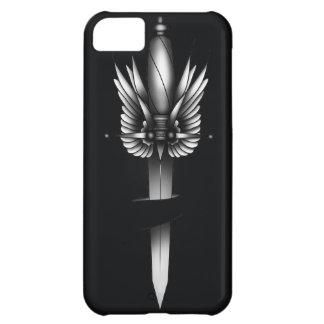 Dagger and wing - black iPhone 5C cover