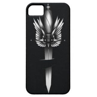 Dagger and wing - black iPhone SE/5/5s case
