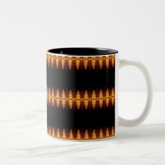 Dagger Blanket Pattern Two-Tone Coffee Mug