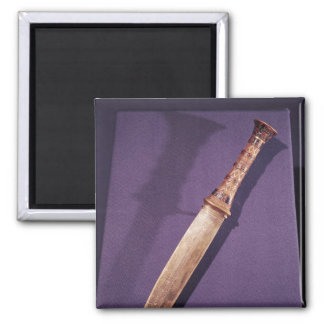 Dagger, from the Tomb of Tutankhamun 2 Inch Square Magnet