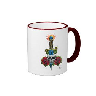 Dagger, Skull, and Roses Mug