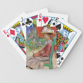 Dagmar Holding Flowers Bicycle Poker Cards