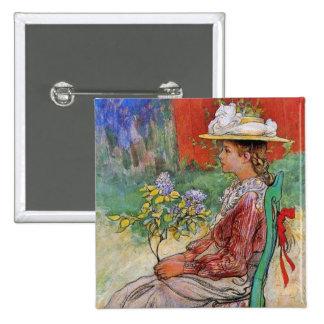Dagmar Holding Flowers Button
