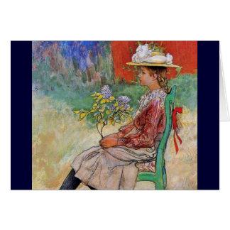 Dagmar Holding Flowers Card
