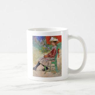 Dagmar Holding Flowers Coffee Mugs