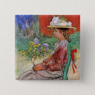 Dagmar in the Garden Button