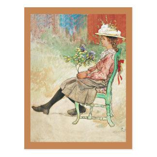 Dagmar in the Garden Postcard