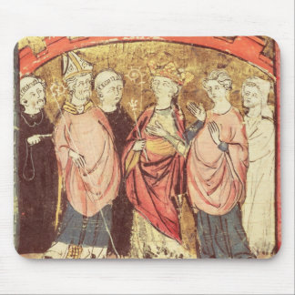 Dagobert I , King of Franks receiving the Kingdom Mouse Pad