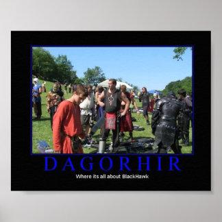 Dagorhir está todo sobre BlackHawk Póster