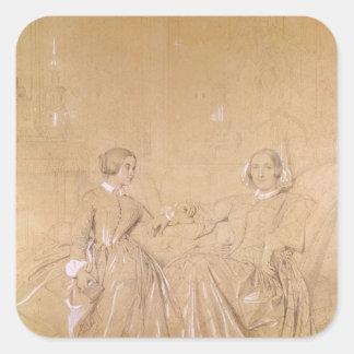 d'Agoult de Charles de la condesa y su hija Pegatina Cuadrada