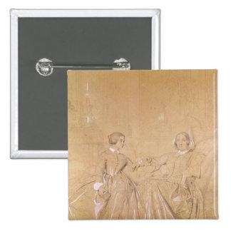 d'Agoult de Charles de la condesa y su hija Pin Cuadrada 5 Cm
