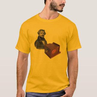 Daguerre and the Giroux Daguerreotype Camera T-Shirt