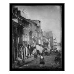 Daguerreotype 1842 de la escena de Philadelphia Impresiones