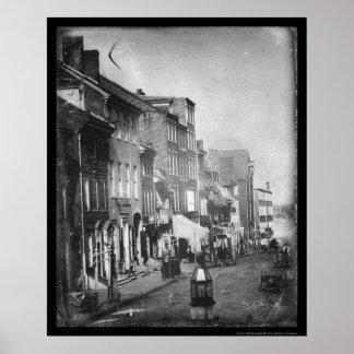 Daguerreotype 1842 de la escena de Philadelphia Póster
