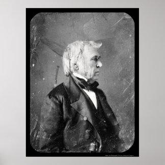 Daguerreotype 1844 de presidente Zachary Taylor Poster