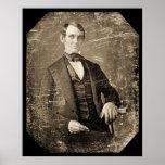 Daguerreotype 1846 de Abe Lincoln Póster