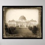 Daguerreotype 1846 de DC del capitolio de los E.E. Póster