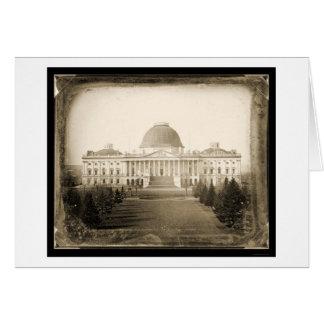 Daguerreotype 1846 de DC del capitolio de los E.E. Felicitación