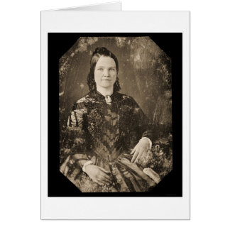 Daguerreotype 1846 de Maria Todd Lincoln Tarjetas