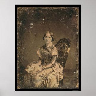 Daguerreotype 1848 de Jenny Lind de la actriz Poster