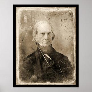 Daguerreotype 1851 de Henry Clay Póster