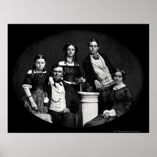 Daguerreotype 1852 de la familia de Benjamin Póster