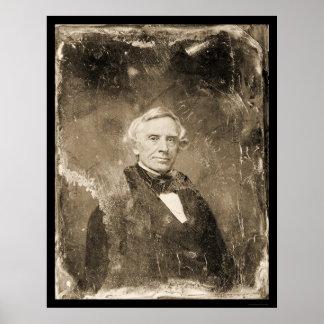 Daguerreotype 1854 de Samuel Morse del inventor Póster