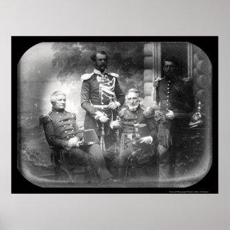 Daguerreotype 1855 de Crimea de la Comisión milita Poster