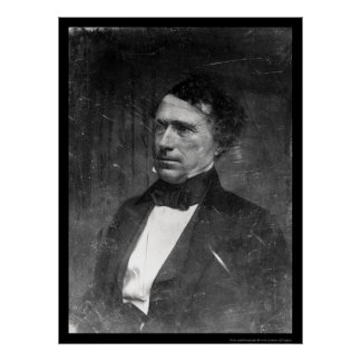 Daguerreotype 1856 de presidente Franklin Pierce Póster