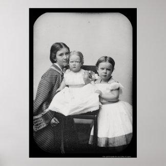 Daguerreotype 1858 de Hubbard y del bebé Posters