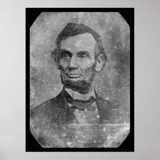 Daguerreotype 1864 de presidente Abraham Lincoln Póster