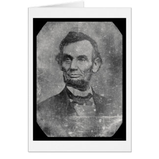 Daguerreotype 1864 de presidente Abraham Lincoln Tarjeta De Felicitación