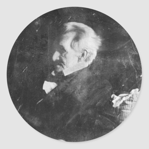 Daguerreotype de Andrew Jackson de Edward Anthony Etiquetas Redondas