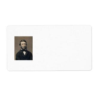 Daguerreotype de Maxham del retrato de Henry David Etiqueta De Envío