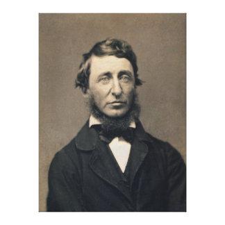 Daguerreotype de Maxham del retrato de Henry David Impresión En Lona Estirada