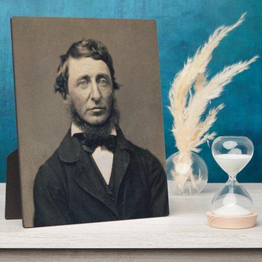 Daguerreotype de Maxham del retrato de Henry David Placa