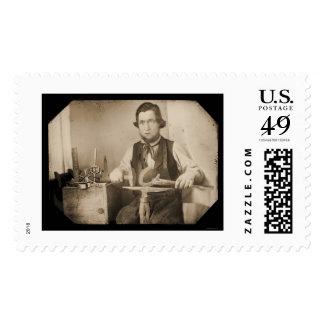 Daguerreotype de trabajo 1846 del herrero estampillas