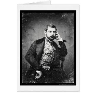 Daguerreotype italiano 1849 de la ópera de Sesto Tarjeta De Felicitación