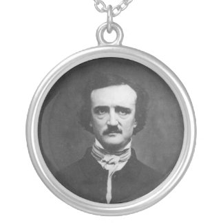 Daguerreotype of Edgar Allan Poe by C.T. Tatman Silver Plated Necklace