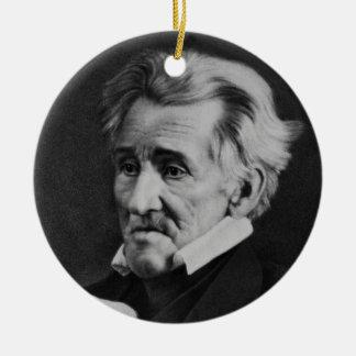 Daguerrotype of President Andrew Jackson in 1845 Ceramic Ornament