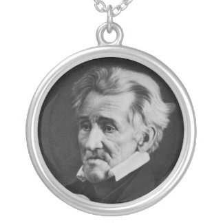 Daguerrotype of President Andrew Jackson in 1845 Silver Plated Necklace