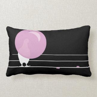 DAGUM BIRD Black - Funny Bubble Gum Birds - Lumbar Pillow
