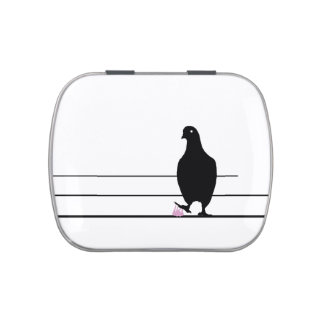 DAGUM BIRD White - Funny Sticky Bubble Gum Bird - Jelly Belly Candy Tins