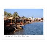 Dahab Restaurants, South Sinai, Egypt Postcard