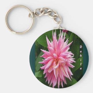 Dahila flower keychain