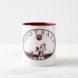 DAHJO Sports Series FOOTBALL Two-Tone Coffee Mug