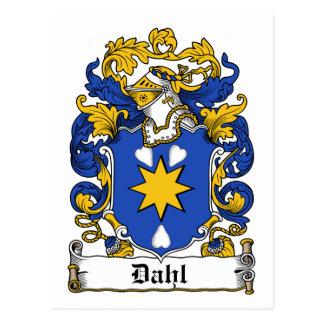 Dahl Family Crest Postcard