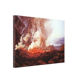 Dahl Johan Claussen - erupción de Vesuvio Impresiones En Lienzo Estiradas